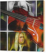 Violin Collection Wood Print