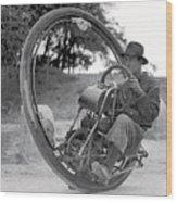 90 M P H Monocycle - 1933 Wood Print