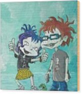 90s Kids, Kimmie And The Chuckster Wood Print
