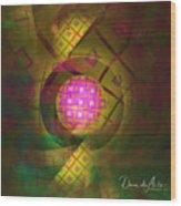 90s Neon Wood Print