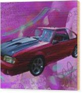 93 Mustang V2 Wood Print