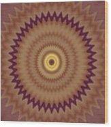 Psycho Hypno Floral Pattern Wood Print
