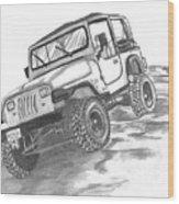 94 Jeep Wrangler Wood Print