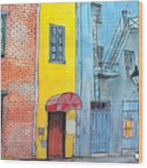 98  French Quarter Back Alley Wood Print
