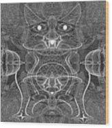 991 Feline  Creature Wood Print