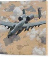 A-10 Thunderbolt Warthog Wood Print