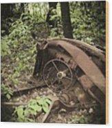 Abandoned 50s Classic.... Wood Print