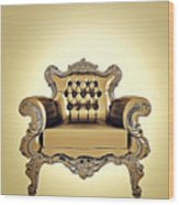 A A G - Antiquearmchairgold Wood Print