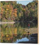 A Autumn Walk Wood Print