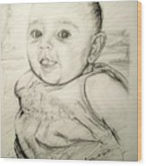 A Baby Smile Wood Print