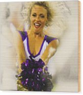 A Baltimore Ravens Cheerleader  Wood Print
