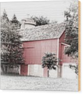 A Barn In The City Wood Print