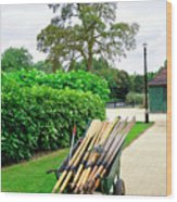 A Barrow Load Of Oars Wood Print