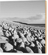 A Beach Of Stones Wood Print