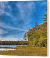 A Beautiful Autumn Day On West Lake Wood Print