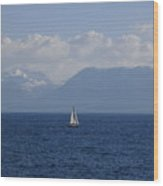A Beautiful Day For Sailing Wood Print