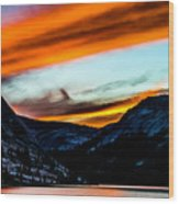 A Beautiful Jet Stream At Sunrise Wood Print
