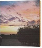 A Beautiful Morning Sky At 06:30 This Wood Print