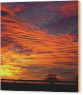 A Beautiful Valentines Sunrise Image Photo Wood Print