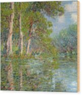 A Bend In The Eure Wood Print