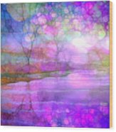 A Bewitching Purple Morning Wood Print