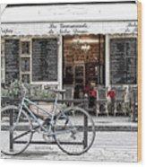 A Bicycle In Paris Wood Print