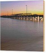 A Biloxi Pier Sunset - Mississippi - Gulf Coast Wood Print