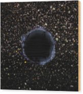 A Black Hole In A Globular Cluster Wood Print