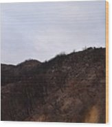 A Bleak Burned Slope In The Foothills Of The Southwest Sierra Nevadas Wood Print