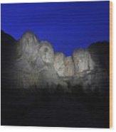 A Blue Rushmore Wood Print