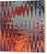 A Blur Of Colors Wood Print