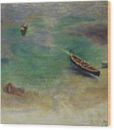 A Boat In The Waters Off Capri Wood Print