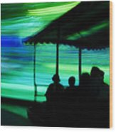 A Boat Ride Through Time Wood Print