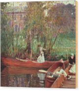 A Boating Party  Wood Print
