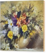 A Bouquet For Elizabeth Wood Print