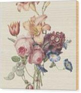 A Bouquet, Henriette Geertruida Knip, Ca. 1820 Wood Print