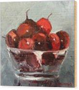 A Bowl Full Of Cherries Wood Print