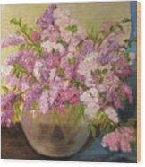 A Bowl Full Of Lilacs Wood Print