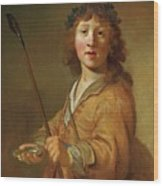 A Boy In The Guise Wood Print