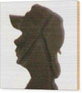 A  Boy's Shadow In Rock Wood Print