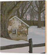 A Brandywine Winter Wood Print