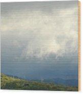 A Break In The Storm Wood Print