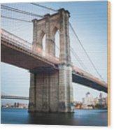 New York Bridge Wood Print