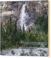 A Bridge To The Falls Wood Print