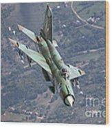 A Bulgarian Air Force Mig-21bis Armed Wood Print