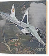 A Bulgarian Air Force Mig-29 In Flight Wood Print