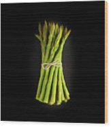 A Bunch Of Fresh Asparagus. Wood Print
