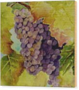 A Bunch Of Grapes Wood Print