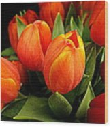 A Bunch Of Tulips Wood Print