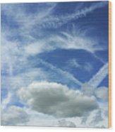 A Busy Sky Wood Print